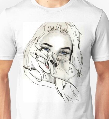 Pia Mia Pen Drawing Unisex T-Shirt