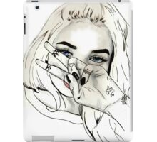 Pia Mia Pen Drawing iPad Case/Skin