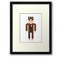 8-bit 10th Doctor Framed Print