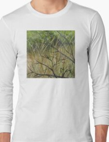 Old Ruined Cottage in Coleraine - Grass Section  Long Sleeve T-Shirt