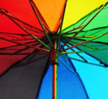 Jenny Rainbow Umbrella. Color your Day Sticker