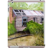Old Ruined Cottage in Coleraine Watercolour Painting iPad Case/Skin