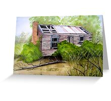Old Ruined Cottage in Coleraine Watercolour Painting Greeting Card