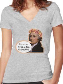 Hamilton II Women's Fitted V-Neck T-Shirt