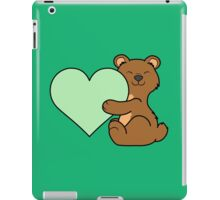 Valentine's Day Brown Bear with Light Green Heart iPad Case/Skin