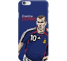Zinedine Zidane iPhone Case/Skin