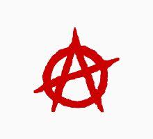 White & Red Anarchist Unisex T-Shirt