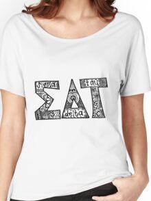 Sigma Delta Tau Zentangle Women's Relaxed Fit T-Shirt