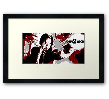 John Wick 2 Bloodied Red Design Framed Print
