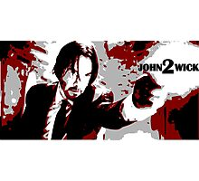 John Wick 2 Bloodied Red Design Photographic Print