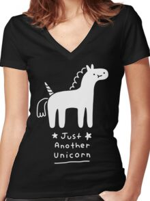 Just Another Unicorn Women's Fitted V-Neck T-Shirt