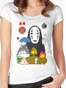 Totoro No Mask Women's Fitted Scoop T-Shirt