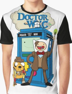 Finn and Jake Adventure Time Doctor Who Graphic T-Shirt
