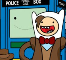 Finn and Jake Adventure Time Doctor Who Sticker