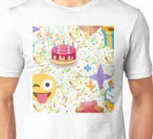 happy birthday emoji Unisex T-Shirt