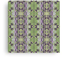 Violet Purple Pink Lime Green Mosaic Pattern Canvas Print