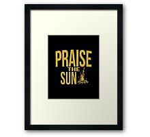 Praise the sun - version 1 - gold Framed Print