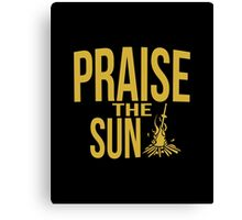Praise the sun - version 1 - gold Canvas Print