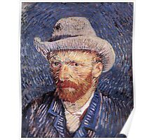 Vincent van Gogh - Self-Portrait with Felt Hat Poster