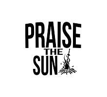 Praise the sun - version 2 - black Photographic Print