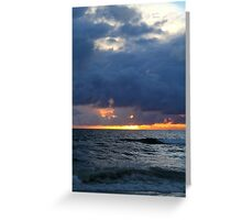 Sunset in Saint-Louis, Senegal Greeting Card