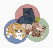 Kitten Trio Kids Tee