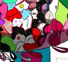 Hippo's Bra/Pantie Blimp Sticker