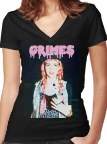 Grimes #2 Women's Fitted V-Neck T-Shirt