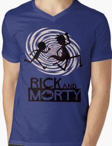 Morty Run Mens V-Neck T-Shirt