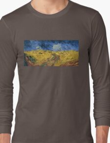 Vincent van Gogh - Wheatfield with Crows Long Sleeve T-Shirt
