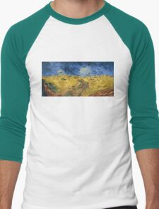 Vincent van Gogh - Wheatfield with Crows Men's Baseball ¾ T-Shirt