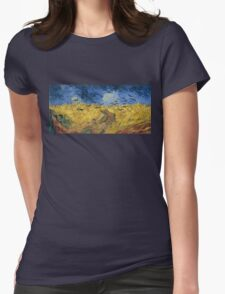 Vincent van Gogh - Wheatfield with Crows Womens Fitted T-Shirt