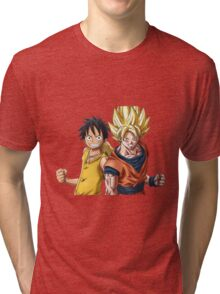 goku luffy Tri-blend T-Shirt