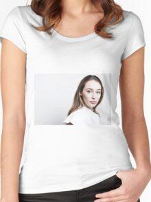 Alycia Debnam-Carey - TCAs 2016 Women's Fitted Scoop T-Shirt