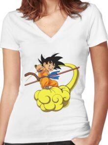 goku kids Women's Fitted V-Neck T-Shirt