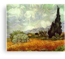 Vincent van Gogh - Wheat Field with Cypresses Canvas Print
