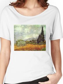 Vincent van Gogh - Wheat Field with Cypresses Women's Relaxed Fit T-Shirt