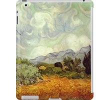 Vincent van Gogh - Wheat Field with Cypresses iPad Case/Skin