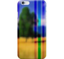 Landscape through a window iPhone Case/Skin