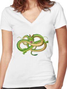 0 shenlong Women's Fitted V-Neck T-Shirt