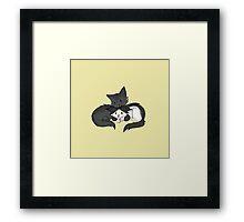 Cuddling Kittens Framed Print