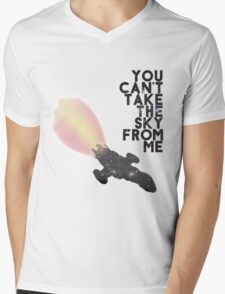 You Can't Take the Sky From Me - Serenity and the Stars (Transparent Version) Mens V-Neck T-Shirt