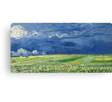 Vincent van Gogh - Wheatfield Under Thunderclouds Canvas Print