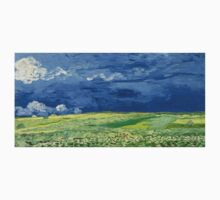 Vincent van Gogh - Wheatfield Under Thunderclouds Kids Tee