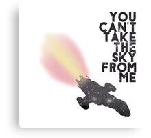You Can't Take the Sky From Me - Serenity and the Stars (Transparent Version) Canvas Print