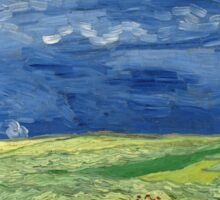 Vincent van Gogh - Wheatfield Under Thunderclouds Sticker