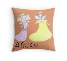 Princesses - ABC '14  Throw Pillow