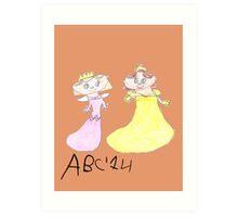Princesses - ABC '14  Art Print