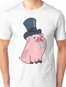 Waddles the Pig in a Top Hat Unisex T-Shirt