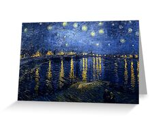 Vincent van Gogh - Starry Night Over the Rhone Greeting Card